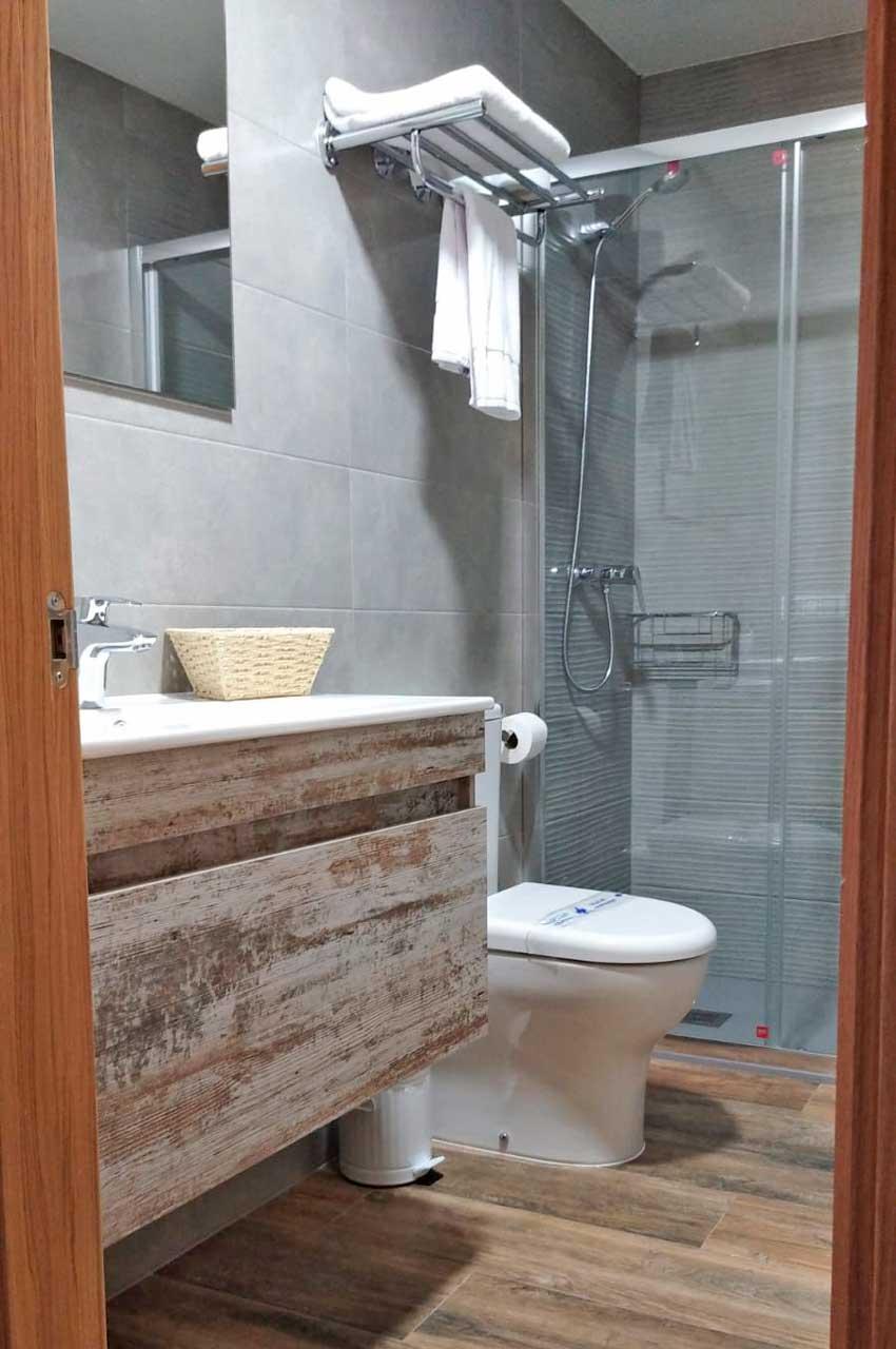 Alojamiento con baño completo