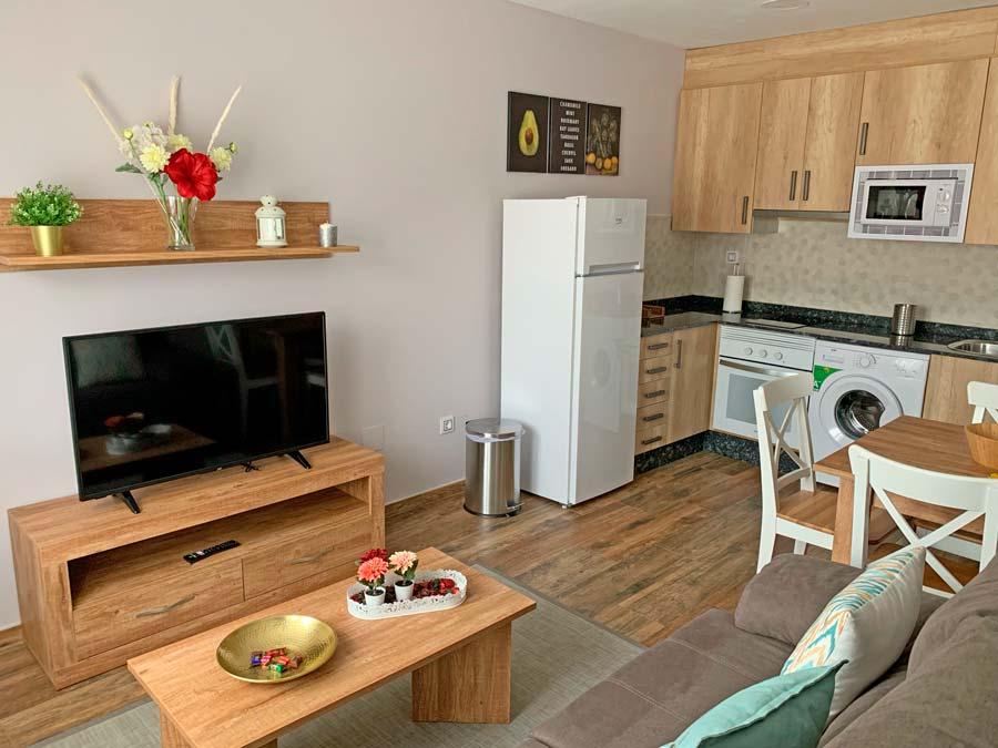 Habitaciones con salon y television en Sanabria