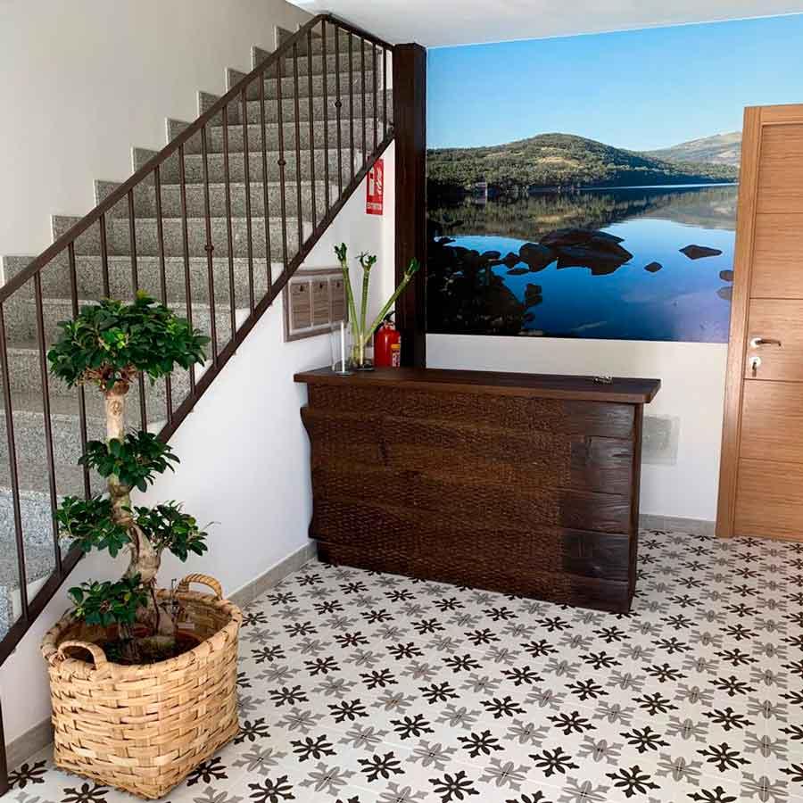 Recepción apartamentos Las Candelas en Sanabria